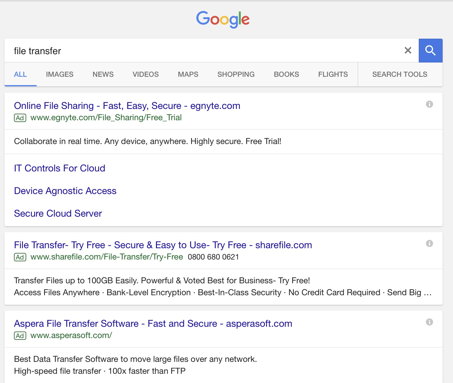 PPC search result for file transfer